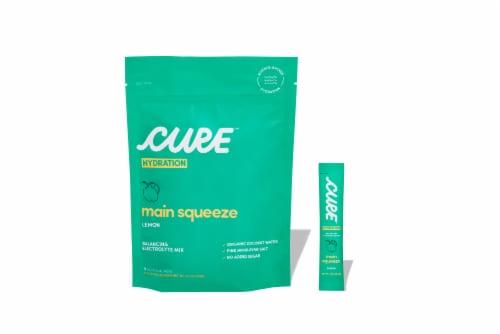 Cure Hydration Main Squeeze Lemon Pouches Perspective: front