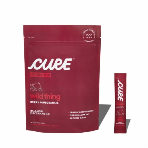Cure Hydration Wild Thing Berry Pomegranate Balancing Electrolyte Mix Pouches Perspective: front