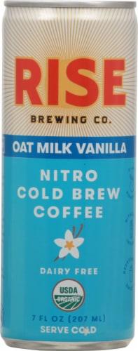 Rise Brewing Co Oat Milk Vanilla Nitro Cold Brew Coffee Perspective: front