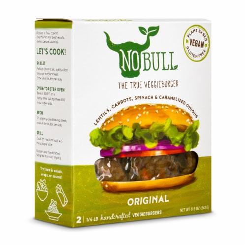 NoBull Original Veggie Burgers Perspective: front