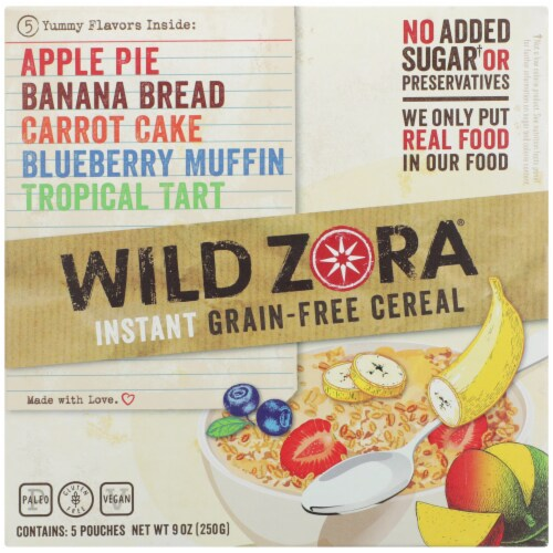 Wild Zora Instant Grain-Free Hot Cereal Variety Pack Perspective: front