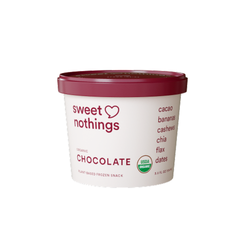 Sweet Nothings Plant Based Spoonable Chocolate Smoothie Frozen Snack Perspective: front