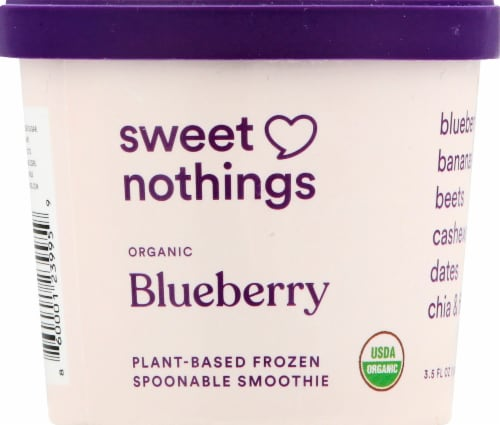 Sweet Nothings Plant Based Spoonable Blueberry Smoothie Frozen Snack Perspective: front