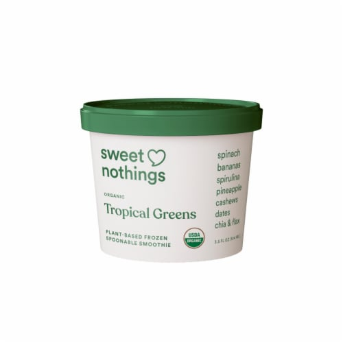 Sweet Nothings Tropical Greens Plant-Based Frozen Snack Perspective: front