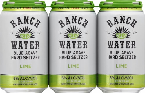 Ranch Water Lime Blue Agave Hard Seltzer Perspective: front