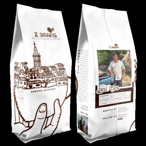 Whole Bean, Ecuadorian Coffee - Jose Capa's Plantation - Dark Roast Perspective: front