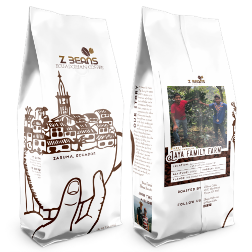 Ground, Ecuadorian Coffee - The Jaya Family's Plantation - Honey Processed Coffee Perspective: front