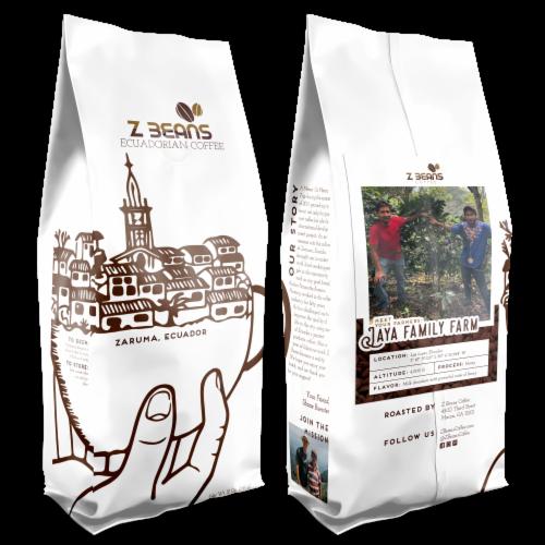 Whole Bean, Ecuadorian Coffee - The Jaya Family's Plantation - Honey Processed Coffee Perspective: front