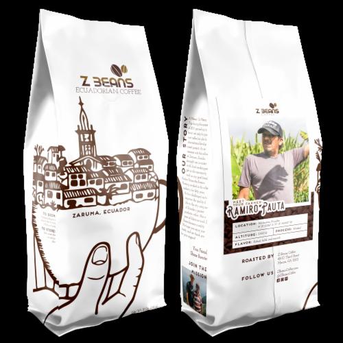 Ground, Ecuadorian Coffee - Ramiro Pauta's Plantation - Medium Roast Perspective: front