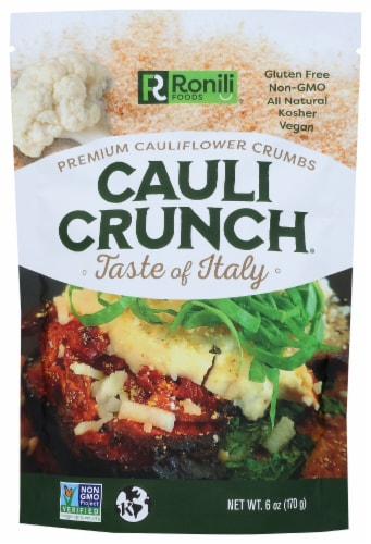 Cauli Crunch Taste of Italy Premium Cauliflower Crumbs Perspective: front