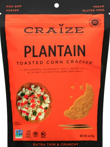 Craize Plantain Toasted Corn Crisps Perspective: front