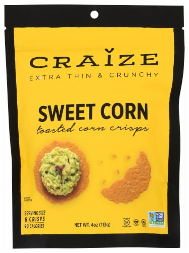 Craize Sweet Corn Toasted Corn Crisps Perspective: front