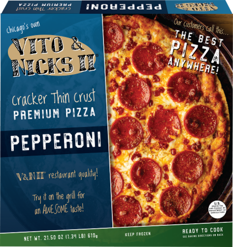 Vito and Nicks II Thin Pepperoni Pizza Perspective: front