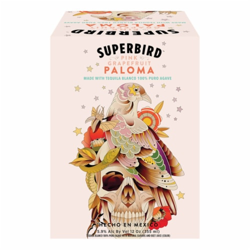 Superbird Pink Grapefruit Tequila Paloma Perspective: front