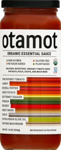 Otamot Organic Essential Vegetable Tomato Sauce Perspective: front