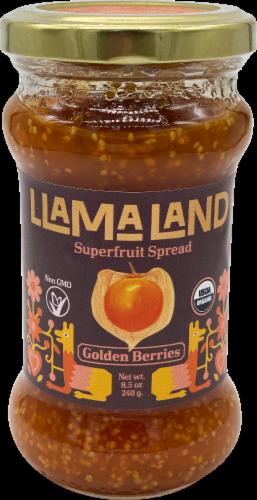 LlamaLand Organics Golden Berries Superfruit Spread Perspective: front