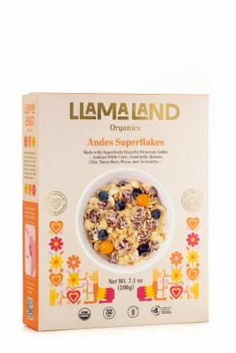 LlamaLand Organics Andes Superflakes Cereal Perspective: front