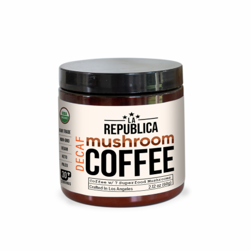 Mushroom Instant Coffee Decaf 30 Day Perspective: front
