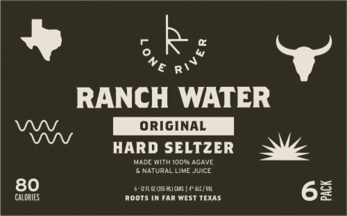 Lone River Ranch Water Original Hard Seltzer Perspective: front