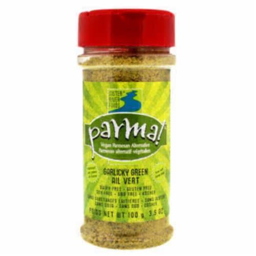Parma Garlicky Green Vegan Parmesan Perspective: front