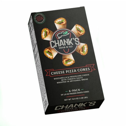 Chank's USA Cheese Pizza Cone Portable Appetizers 6 Count Perspective: front