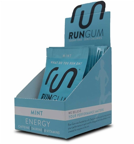 Run  Energy Performance Gum   Mint Perspective: front