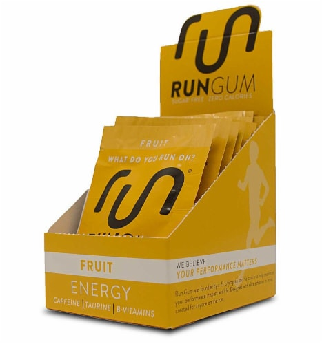 Run  Energy Performance Gum   Fruit Perspective: front