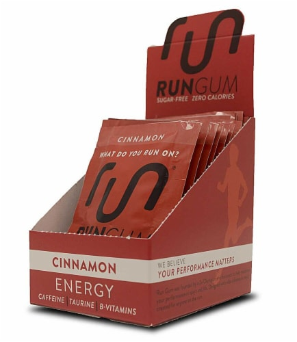 Run Cinnamon Energy Performance Gum Perspective: front