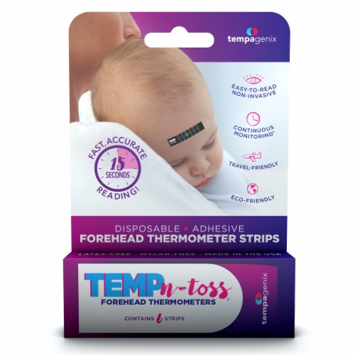 Tempagenix Temp-n-Toss Forehead Thermometer Strips Perspective: front