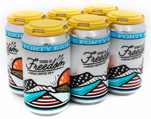 State 48 Brewery Sound of Freedom Mosaic-Hopped IPA Perspective: front