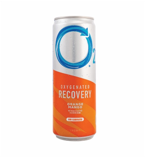 O2 Natural Recovery Oxygenated Orange Mango Recovery Drink Perspective: front
