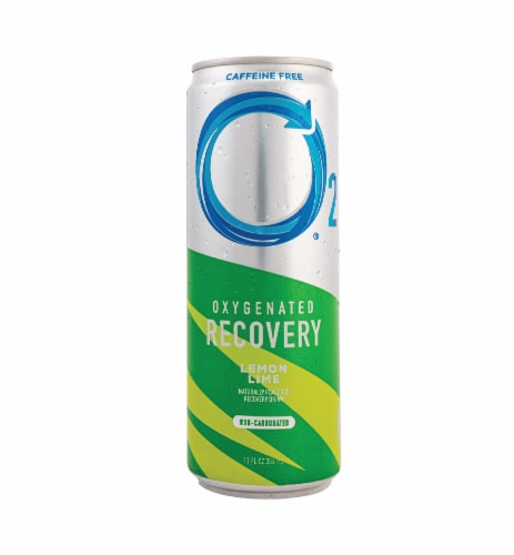 O2 Natural Recovery Oxygenated Caffeine Free Lemon Lime Recovery Drink Perspective: front