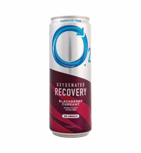 O2 Natural Recovery Oxygenated Caffeine Free Blackberry Currant Recovery Drink Perspective: front