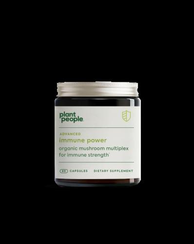 Plant People Advanced Immune Power Organic Mushroom Multiplex Capsules Perspective: front