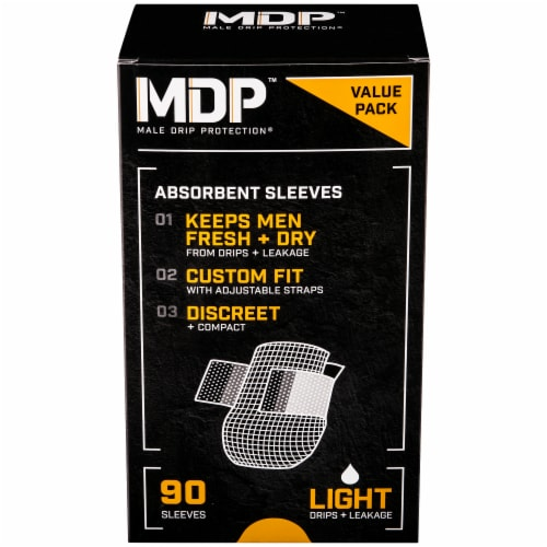 MDP Male Drip Protection Light Absorbent Sleeves Perspective: front