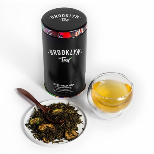 Cucumber Melon Green Loose Leaf Tea Perspective: front