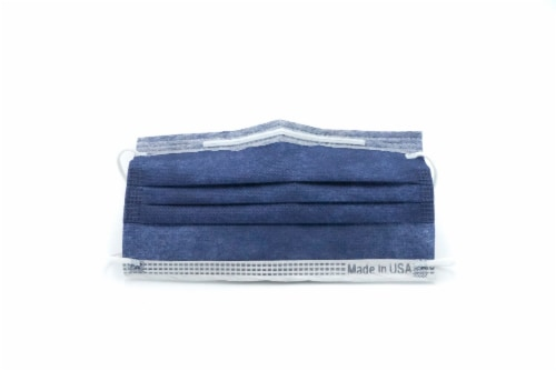 Disposable Face Mask, Navy Blue, 50 pc Perspective: front