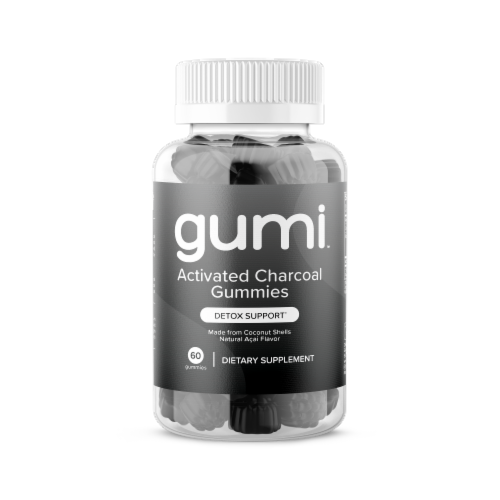 Activated Charcoal Gummies | Gumi Nutrition Perspective: front