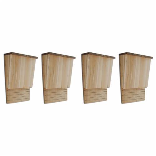 vidaXL Bat Houses 4 pcs 8.7 x4.7 x13.4  Wood Perspective: front