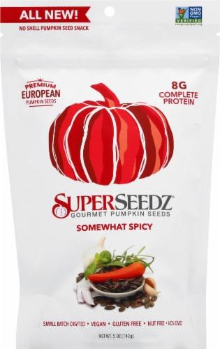 SuperSeedz Somewhat Spicy Pumpkin Seeds Perspective: front