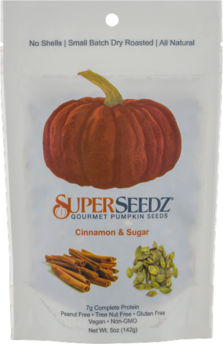 Superseedz Cinnamon & Sugar Pumpkin Seeds Perspective: front