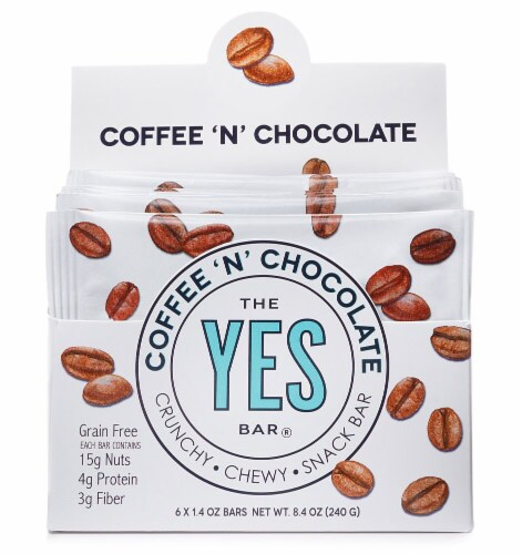 The YES Bar  Gluten Free Real Food Paleo Snack Bar   Coffee 'N' Chocolate Perspective: front