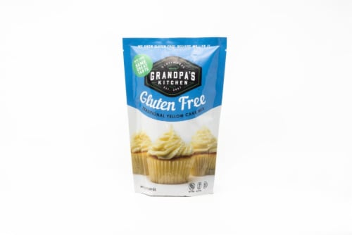 Grandpa's Kitchen Gluten Free Traditional Yellow Cake Mix Perspective: front