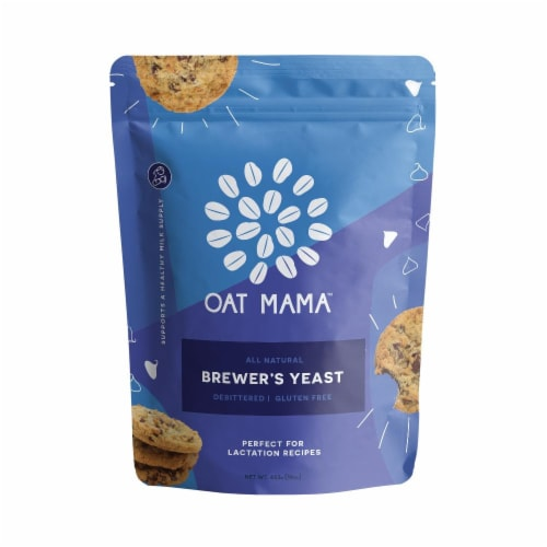 Oat Mama Lactation Brewer's Yeast Perspective: front