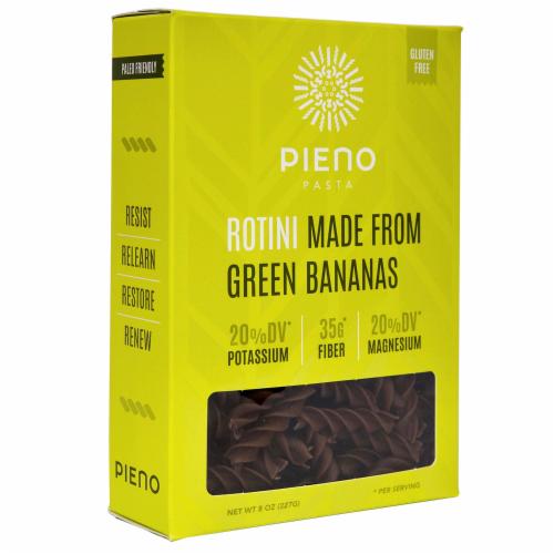 Pieno Green Bananas Rotini Pasta Perspective: front