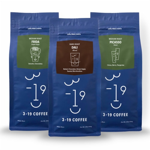 3-19 Coffee Blend Bundle Whole Bean Coffee Perspective: front