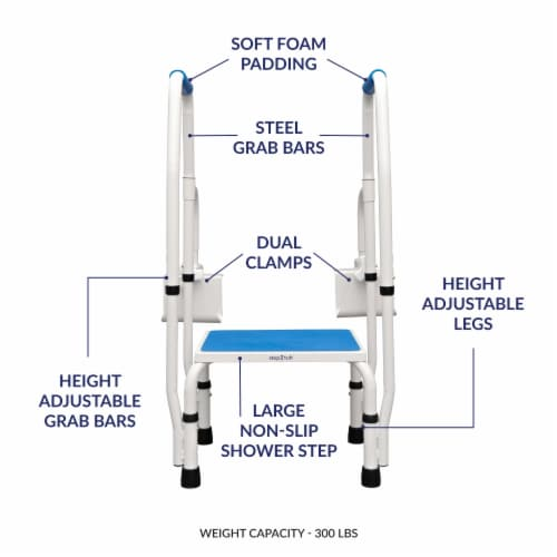 Step2tub Bathtub Safety Steps w/ Handle Perspective: front