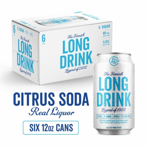 The Finnish Long Drink Zero Sugar Citrus Cocktail Perspective: front