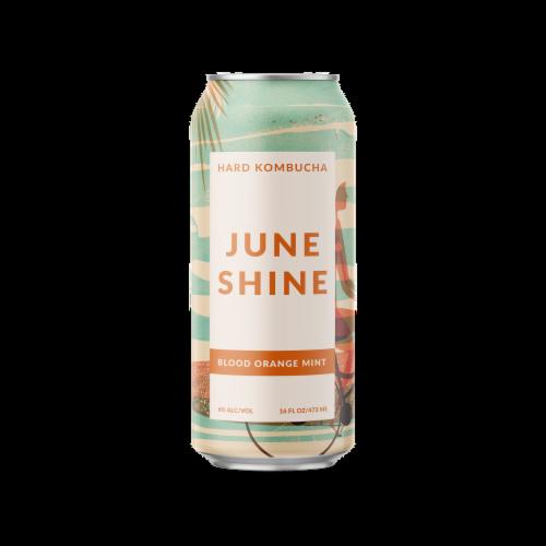 JuneShine Blood Orange Mint Hard Kombucha Perspective: front
