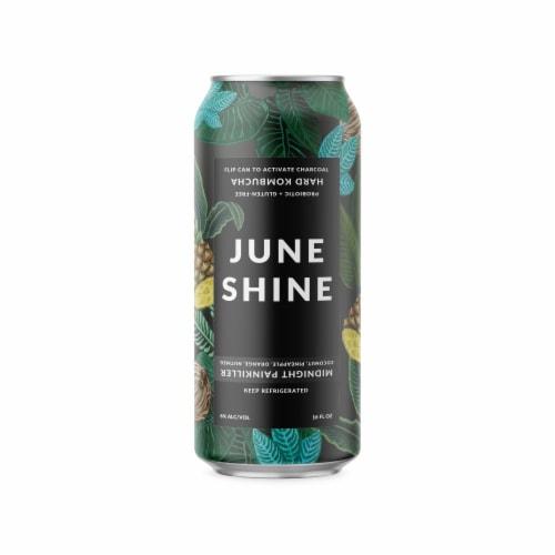 JuneShine Midnight Painkiller Hard Kombucha Perspective: front